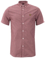Lyle & Scott Claret Gingham Shirt