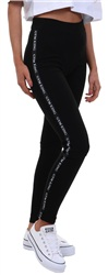 Gym King Black Envy Logo Leggings