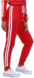 Parisian Red Striped Track Bottoms