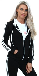 Parisian Black/White Stripe Hoody
