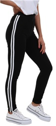 Parisian Black/White Skinny Fit Stripe Sport Jogger