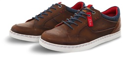 S.Oliver Cognac Tan Lace Up Trainer