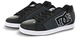 D.C Shoes Black/Grey Net Lace Up Trainer