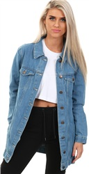 Brave Soul Denim Long Denim Jacket