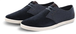 Fred Perry Navy Low Bedford Cord Trainer