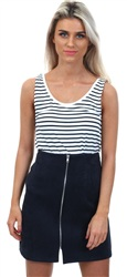 Vila Snow White Stripe Tank Top