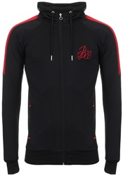 Bee Inspired Black/ Red Hooded Sweatshirt