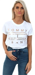 Hilfiger Denim White Tommy Flag Tee
