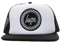 Hype White/Back Baseball Cap