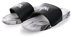 Hype Black/White Core Sliders