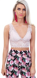 Only Rose Smoke Chloe Lace Bralette
