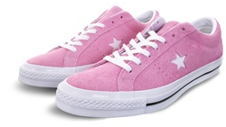 Converse Light Orchid/White/Black One Star Cotton Candy