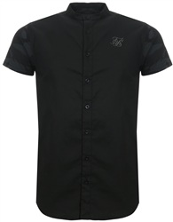 Siksilk Black Camo Ss-12320 S/S Contrast Oxford Shirt