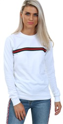 Parisian White Stripe Sweater