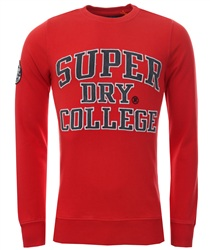Superdry Upstate Red Upstate Wash Crew Sweat