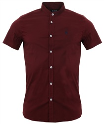 Alex & Turner Burgundy Short Sleeve Shirt