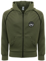Hype Khaki/Black Crest Piping Track Top