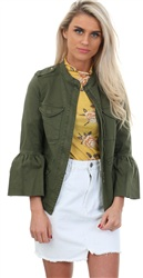 Only Ivy Green Cargo Jacket