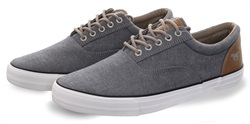 Mustang Blue Canvas Lace Up Shoe