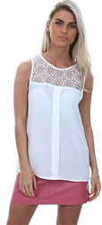 Only Cloud Dancer White Lace Venice Top