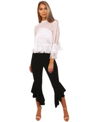 Parisian Black Frill Trouser