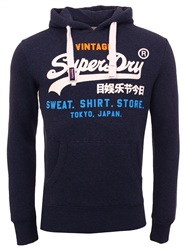Superdry Blue Sweat Shirt Store Tri Hoody
