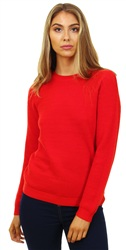 Vila Red Chassa Knit Long Sleeve Jumper
