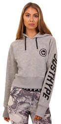 Hype Grey Cropped Hoody
