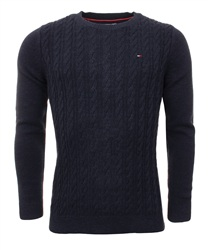 Hilfiger Denim Navy Cable Knit Sweater