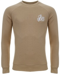 Bee Inspired Sand Signature Crew Sweater