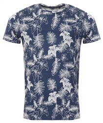 Brave Soul Navy Tropical Tee