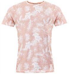 Brave Soul Pink Tropical Tee