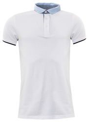 Brave Soul White Yanan Polo Shirt