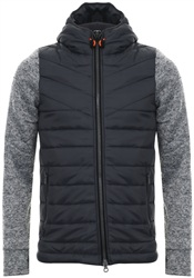 Superdry Grey Heather Storm Hybrid Zip Hoodie