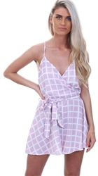 Parisian Lilac Pattern Playsuit