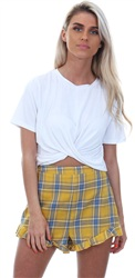 Parisian Yellow Check Shorts