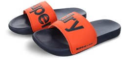 Superdry Dark Navy/Hawaii Orange Pool Sliders