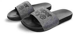 Superdry Black/Grey Grit Lineman Pool Sliders