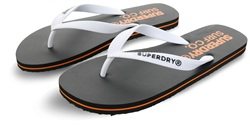 Superdry Black/Optic White Sleek Flip Flops