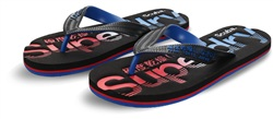 Superdry Black/Cobalt Scuba Faded Flip Flop