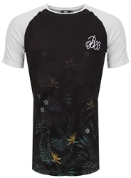 Bee Inspired White/Black/Multi Merton Floral Tee