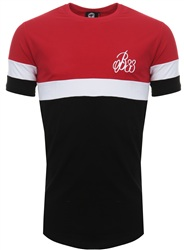 Bee Inspired Red/White/Black Grove Panel Tee
