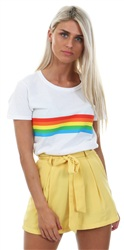 Fashion Union Yellow Rocco High Waist Shorts