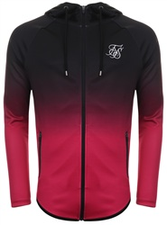 Siksilk Black/Pink Athletic Zip Through Hoodie