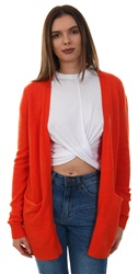 Vila Orange Com/Melange Viril Open Knit Cardi