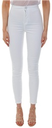 Noisy May White Ella High Waist Jean