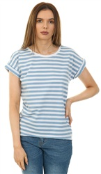 Vila Blue/White Stripe Lux Tee