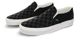 Vans Black/Mashmallow Checker Emboss Classic Slip-On Shoes