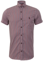 Ottomoda Burgandy Check Shirt