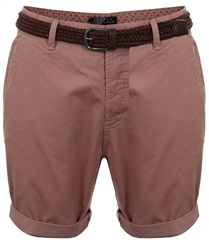 Broken Standard Dusty Pink Basic Belted Chino Short